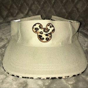 Disney's Animal Kingdom leopard print logo visor